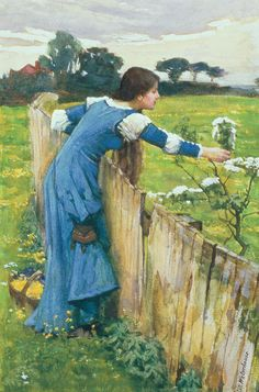 """Spring"" von John William Waterhouse (geboren am 6. April 1849 in Rom, gestorben am 10. Februar 1917 in London), britischer Maler."