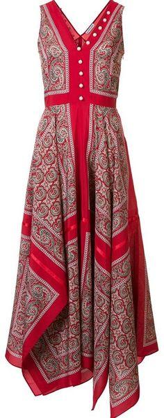 Altuzarra printed draped dress