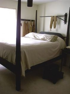 Colonial and primitive country home decor ---The bed ,linens, foot stool and quilt crane can be built by W. Harris for The Old Mercantile in Clarksville Tn----theoldmercantile.com----Like us on Facebook-----931-552-0910