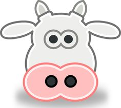 Clip Art Free Printable Happy Birthday Balloons Clip Art Free Http Pictures Cartoon Cow Face, Preschool Farm Crafts, Preschool Charts, Animal Mask Templates, Cow And Moon, Cow Mask, Cow Photos, Cow Head, Printable Animals