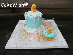 Rubber Ducky Mini Cakes (This would be an awesome birthday cake ... for me! :D)