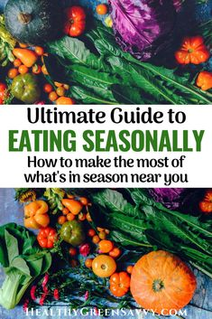 Eating seasonally has so many benefits: In addition to fresher and better-tasting food, seasonal eating can lower your food bill and shrink the environmental impact of your diet. Here's what to know about seasonal foods and how to eat seasonally all year long. seasonaleating #localfood #ecofriendly #locavore Spring Garlic, Whats In Season, Green Living Tips, Summer Tomato, All Year Round, Eat Seasonal, Energy Conservation, In Season Produce, Sustainable Living