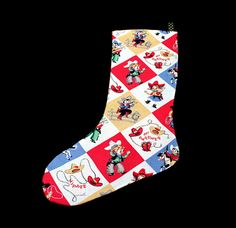 Retro Vintage Cowboy Christmas Stocking