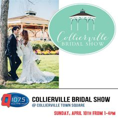 Collierville Bridal Show w/ Liz Sunday April 10th 1-4pm in the charming Collierville Town Square. more info at http://Q1075.com