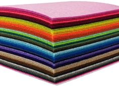 Gnognauq 48 Sheets Assorted Felt Nonwoven Fabric Sheet Felt Pack Craft Felt Sheets for DIY Craft Patchwork Sewing Square 2020