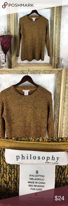 Philosophy Scoop x Crew Neck Sweater Size Small x Great Condition Philosophy Sweaters Crew & Scoop Necks