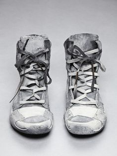 Boris Bidjan Saberi Cement Sprayed Trainers Post-apocalypse clothing / fashion / post-apocalyptic wear / dystopian / footwear / shoes /footgear / looks / style / unisex Zapatos Shoes, Men's Shoes, Shoe Boots, Shoes Sneakers, Shoe Bag, Grey Vans, Footwear Shoes, Girls Sneakers, Man Fashion