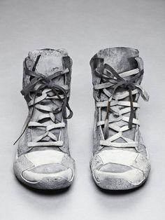 Boris Bidjan Saberi Cement Sprayed Trainers Post-apocalypse clothing / fashion / post-apocalyptic wear / dystopian / footwear / shoes /footgear / looks / style / unisex Zapatos Shoes, Men's Shoes, Shoe Boots, Shoes Sneakers, Shoe Bag, Grey Shoes, Grey Vans, Footwear Shoes, Girls Sneakers