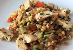 Tarhonyás csirkemell zöldpaprikával Croatian Recipes, Fried Rice, Feta, Risotto, Potato Salad, Ethnic Recipes, Serbian, Baby, Babys