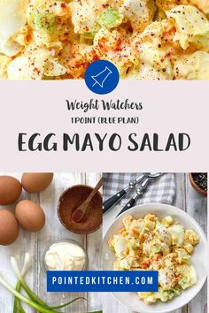 This easy to make Egg Salad is perfect for anyone following the Weight Watchers plans. A tasty WW lunch recipe that is 1 SmartPoint per portion on Weight Watchers Purple, Blue and (the old) Freestyle plans and 5 SmartPoints on the Green plan. #weightwatcherslunchrecipes #weightwatchers #freestyle #wwblueplan #wwgreenplan #wwpurpleplan #wweggsalad Weight Watchers Pasta, Weight Watchers Lunches, Weight Watchers Desserts, Ww Recipes, Lunch Recipes, Breakfast Recipes, Baked Egg Custard, Yummy Food, Tasty