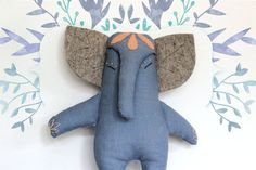 Filomeluna stuffed Toys - handmade elephant toy - bunny mermaid on Etsy | Small for Big