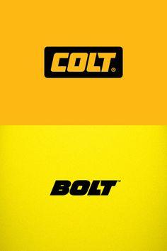 Colt logotype by Yana Makarevich. VS Bolt logotype by Fontfabric.