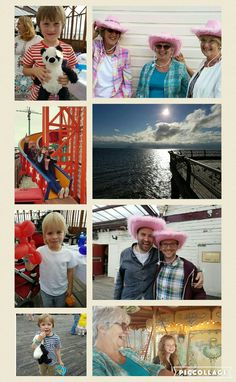 July 24th- having great fun on the pier for Gareth and Pauline's wedding party