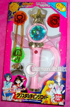 "Bandai ""Sailor Moon Super S"" Crystal Henshin Wand role-playing toy"