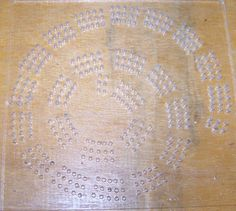 Spiral Cribbage Board Templates Template for Cribbage Board Hole Pattern…