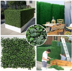45% off discount! new style fireproof anti-UV artificial boxwood hedge plants 50cmX50cm privacy fencing foliage grass leaf for garden-G0602A001J