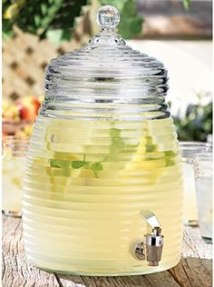 Beehive Glass Beverage Dispenser 1.36 Gallon