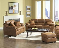 Roundhill Furniture Laramie Tanner Polyester Sofa and Loveseat Set -- You can find out more details at the link of the image.