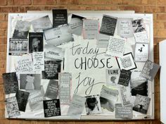 My latest RA bulletin board! Inspirational and Pinterest-y! Hopefully it will remind my residents that they are beautiful and loved. Simply printed inspirational and fun pictures from Pinterest and posted them all over the board. Residents can take them as room décor at the end of the month!