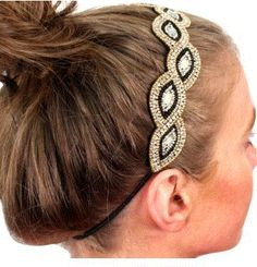 Country Couture - Gold and Black Beaded Headband , $12.00 (http://www.countrycoutureco.com/gold-and-black-beaded-headband/)