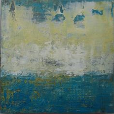 """Corridor of Light,"" 8x8 inches, plaster, oil, and cold wax by Dayna J. Collins. www.alleyartstudio.com"