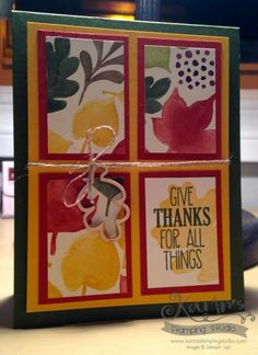 Give Thanks for All Things by Karin Menghini - Cards and Paper Crafts at Splitcoaststampers