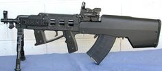 SKS Simonov 7,62 × 39mm rifle with paratrooper bullpup stock by  cbrps