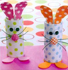 Easter Bunny. Toilet paper rolls
