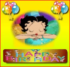 Animated Gif by Karen Birthday Board, Birthday Wishes, Happy Birthday, Betty Boop Birthday, Boop Gif, Betty Boop Pictures, Party Shop, Happy Friday, Animated Gif