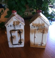 Vintage Outhouse Salt and Pepper Shakers on Etsy, $15.00