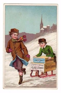 Gilbert S.Graves,Gloss Starch,Buffalo,N.Y. Victorian Trade Card