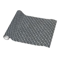 Steel Diamond Plate Background Wrapping Paper $18.95 Steel Diamond plate panel covering a spot on the floor. Industrial steampunk machine design.