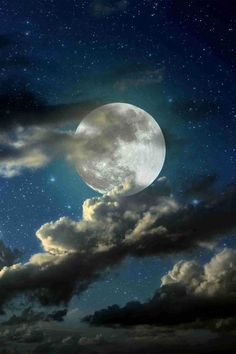full moon shining through clouds - Google Search