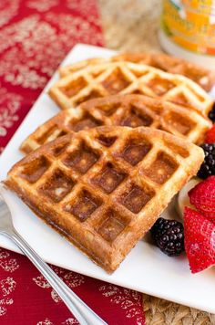 Whether it is for breakfast or dessert - these Syn Free Classic Belgian Waffles are delicious with various different toppings of choice.