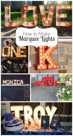 How to Make Marquee...
