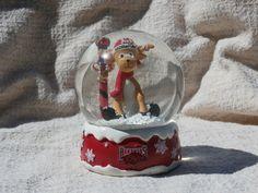 Arkansas Razorbacks Christmas Snow Globe with Reindeer, Hard to Find Collectible #ForeverCollectibles #ArkansasRazorbacks