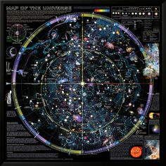 Map of Universe - ©Spaceshots - Lamina Framed Art Print 37 x 37 in