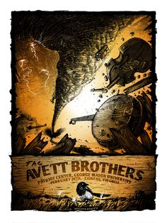 Ahhh, yes. I was there. It was a religious experience...The Avett Brothers concert poster | Fairfax, Va - 2/28/14