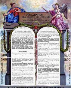 """En 1789 después del ataque súbito a la Bastilla, la Asamblea Nacional Constituyente adoptó La Déclaration des Droits de l'Homme et du Citoyen) como el primer paso para escribir la constitución de la Republica Francesa. La Declaración proclama que a todos los ciudadanos se les deben garantizar los derechos de """"libertad de propiedad, seguridad, y resistencia a la opresión"""". #derechos #liberdad"""
