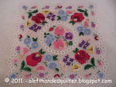 lace art embroidery - Kalocsa Richelieu