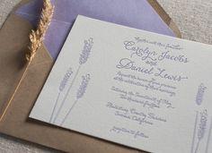 Custom Letterpress Wedding Invitations  by SteelPetalPress on Etsy