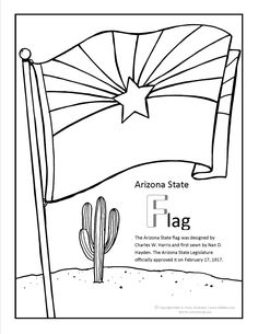 1000 images about arizona coloring pages on pinterest for Arizona state flag coloring page