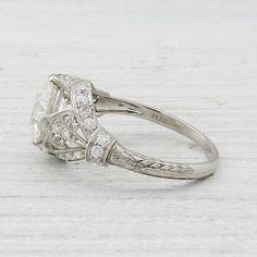 2 Carat Vintage Diamond Engagement Ring
