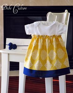 cute and easy; would be cute to make a coordinating sash or belt to cover elastic casing.