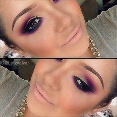 #wakeupandmakeup @wakeupandmakeup Gorgeous purple S...Instagram photo | Websta (Webstagram)