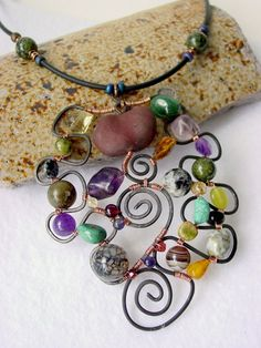 This just gives me ideas for an amazing cuff bracelet, or a suncatcher