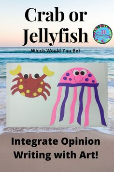 Would you be a Crab or Jellyfish?  Integrate Opinion writing with a craft!  Take a look at the video preview! #oceananimalactivities