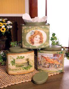 ♧Irish Tea Tins (1) From: Victorian Trading Co, please visit