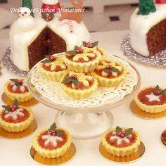 Christmas Tartlets Dollhouse Miniature by DollhouseKitchen on Etsy