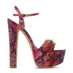 Picula pink snakeskin platforms - ShoeDazzle